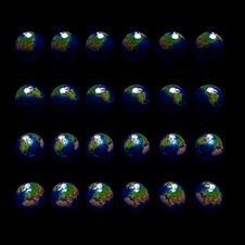 Free Rotating Earth With South Pole Stock Photos - 5304863
