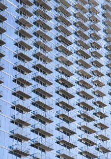 Free Blue Balconies On Angle Royalty Free Stock Photo - 5304925
