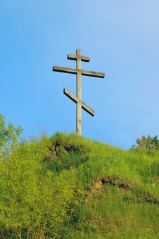 Free Cross On The Hill Royalty Free Stock Photo - 5305095