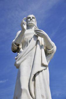 Free Jesus Christ Statue In Havana Royalty Free Stock Photo - 5305465