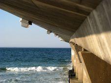 Free Concrete Pier At Beach Stock Photos - 5305513