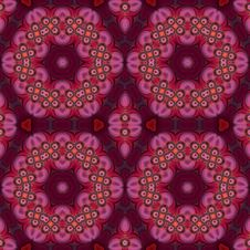 Free Quilted Floral Medallion Wallpaper Royalty Free Stock Photography - 5305517