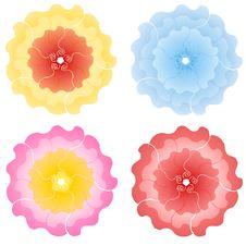 Free Decorative Colourful Flower Blossoms Stock Images - 5305684