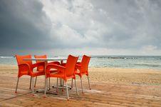 Free Rainy Beach Stock Photography - 5305872