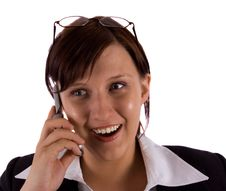 Free Business Woman With Mobilephone Stock Photos - 5305933