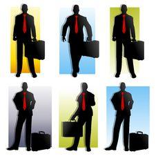 Free 6 Businessman Silhouettes Royalty Free Stock Photos - 5306478