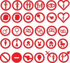 Free Gender Icons Royalty Free Stock Image - 5306576
