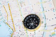 Free Compass On Map Stock Photos - 5307023