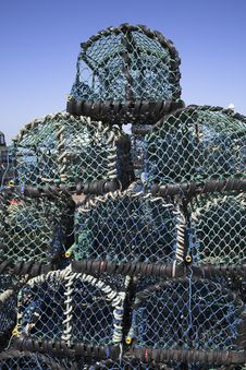 Free Lobster Pots Royalty Free Stock Photography - 5307397