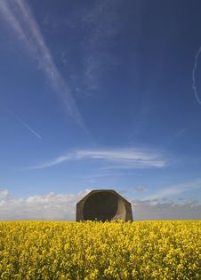 Free Wartime Reflector Dish In Open Countryside Stock Photo - 5307460