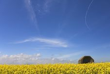 Free Wartime Reflector Dish In Open Countryside Stock Images - 5307504