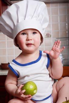 Little Boy Cook Stock Photo