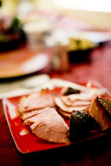 Free Plate Of Ham Stock Photos - 5308153