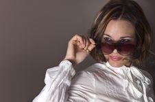 Fashion Sunglasses Beauty Royalty Free Stock Photography