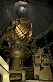Vintage Lighthouse Mechanism Stock Photo