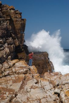 High Wave At Cape Of Good Hope Royalty Free Stock Photos