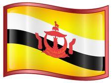 Free Brunei Flag Icon Royalty Free Stock Image - 5310116