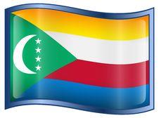 Comoros Flag Icon Stock Photography