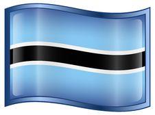 Botswana Flag Icon Stock Photos