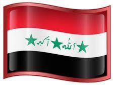 Iraq Flag Icon Royalty Free Stock Photo