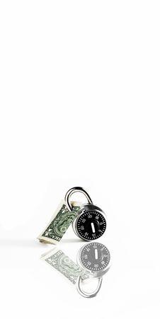 Dollar Bill Locked Up Royalty Free Stock Photo