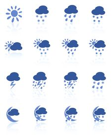 Free Weather Icons Royalty Free Stock Photo - 5311695