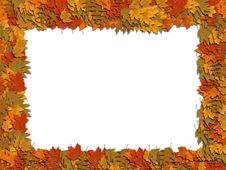 Free Frame Autumn Leaves Royalty Free Stock Photography - 5311727