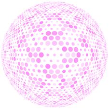 Free Pink Dots On White Sphere Royalty Free Stock Photos - 5311898