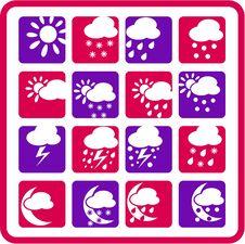 Free Weather Icons Stock Photos - 5311903