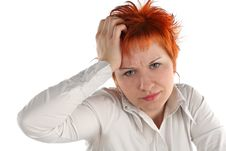 Free Anxious Business Woman Stock Photo - 5312090
