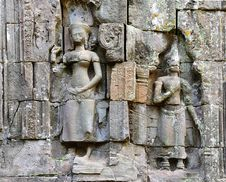 Cambodia; Angkor; Ta Prohm Temple Stock Photo