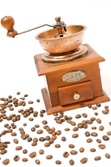 Free Coffee Grain And Coffee Mill Stock Photography - 5312402