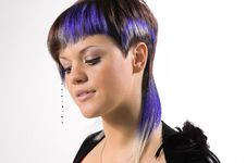Free The Girl With A Creative Hair Stock Photo - 5312460