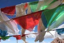 Free Prayer Flags In Tibet China Royalty Free Stock Image - 5312626