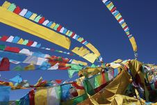 Free Prayer Flags In Tibet China Royalty Free Stock Photos - 5312678
