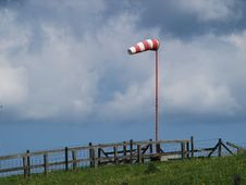 Free Windsock On A Dike Stock Photography - 5313552