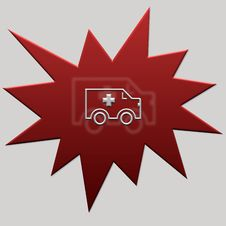 Free Red Web Button Ambulance Stock Image - 5314751