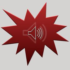 Free Red Web Button Audio Royalty Free Stock Images - 5314759