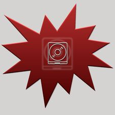 Red Web Button Cd Royalty Free Stock Images