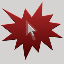 Red Web Button Arrow Royalty Free Stock Image