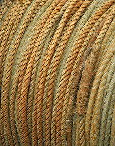 Coiled Rope Detail Stock Photo