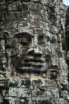 Cambodia Angkor Bayon Temple Stock Photography
