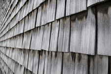 Rows Of Weathered Wood Shingles Royalty Free Stock Images