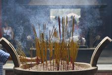 Free Burning Incense Stick Stock Photography - 5315632