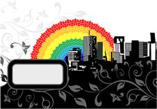 Free Rainbow City Royalty Free Stock Photo - 5315705
