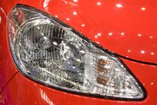 Head Lamp Of Red Car Royalty Free Stock Photo