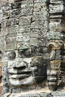 Cambodia Angkor Bayon Temple Royalty Free Stock Photos