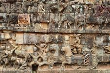 Free Cambodia; Angkor; Leper King Terrace Royalty Free Stock Photography - 5316217