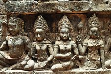 Cambodia; Angkor; Leper King Terrace Stock Images