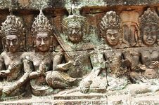 Free Cambodia; Angkor; Leper King Terrace Stock Images - 5316344